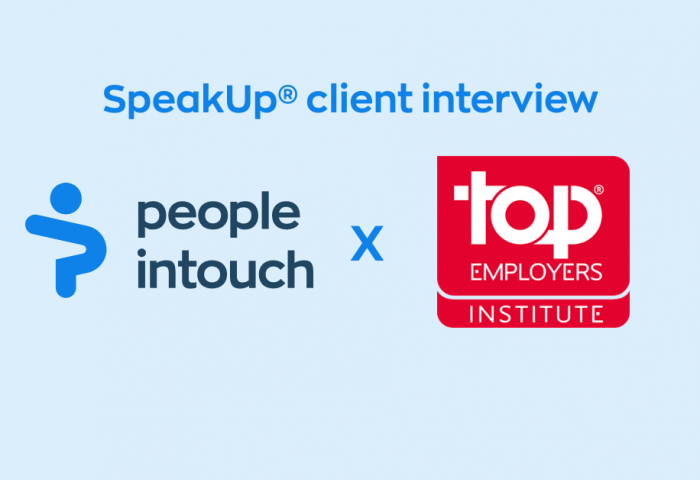 SpeakUp interview with our client Top Employers Institute